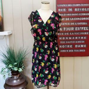 Old Navy | M flutter sleeve floral print dress